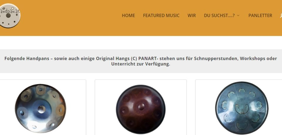 HANDPAN.AT – a new Handpan Website launched (german content)