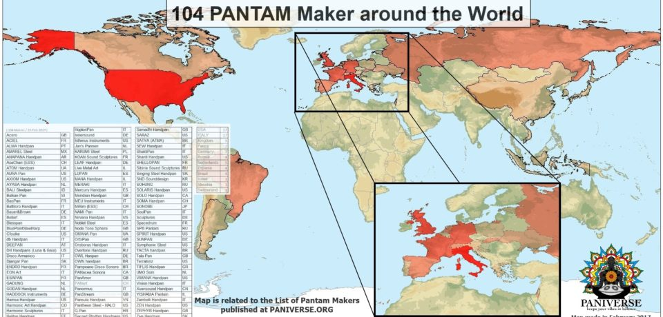 PANIVERSE list of PANTAM Makers renewed and Makers Map new processed